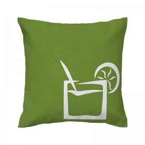Capa de almofada verde Coquetel - Coleção Ícones do Brasil (design exclusivo VivaIn)