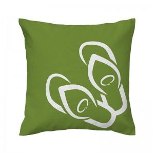Capa de almofada verde Havaiana - Coleção Ícones do Brasil (design exclusivo VivaIn)