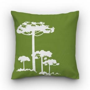 Capa de almofada verde Pinheiro Branco - Coleção Ícones do Brasil (design exclusivo VivaIn)