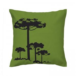 Capa de almofada verde Pinheiro Preto - Coleção Ícones do Brasil (design exclusivo VivaIn)
