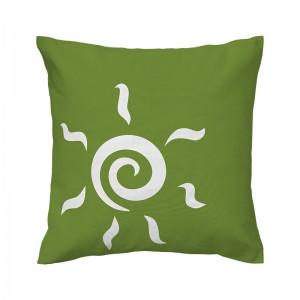 Capa de almofada verde Sol - Coleção Ícones do Brasil (design exclusivo VivaIn)