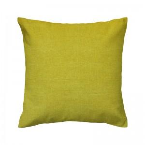 Capa de almofada liso linhão amarelo