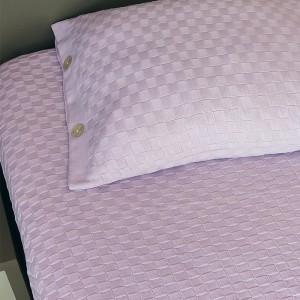 Colcha tricot SOLTEIRO com porta travesseiro - LILÁS