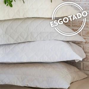 Colcha trapuntada Onix CASAL 300 fios com porta travesseiro Scavone - BRANCO