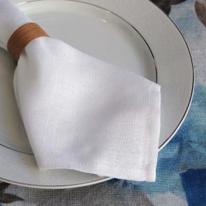 Guardanapo 37x37cm branco em linho sintético