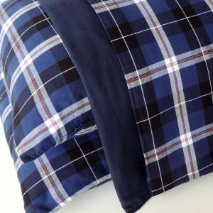 Jogo de lençol flanela CASAL Ágata azul