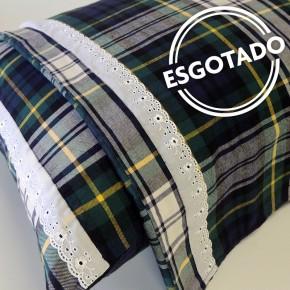 Jogo de lençol flanela SOLTEIRO Turmalina (com bordado inglês)