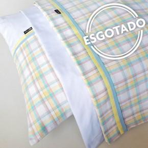 Jogo de lençol flanela SOLTEIRO Quartzo