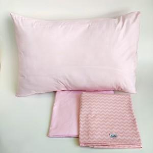 Jogo de lençol infantil 3 peças Chevron Rosa