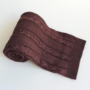 Manta em tricô chocolate 0,80 x 2,00m