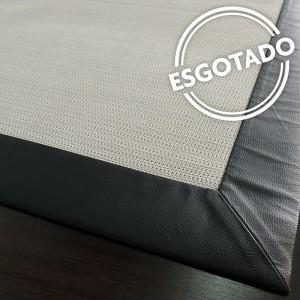 Tapete Look Floor com borda de couro 1,60 X 2,30 m